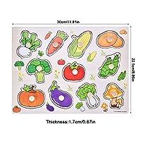幼児の小道具パズルおもちゃ子供たちのおもちゃを学ぶ赤ちゃんの脳を行使するための早期学習のための無毒(野生野菜A3013)