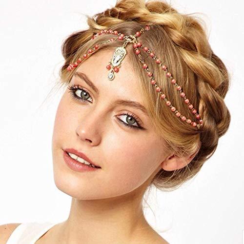 Clips Haarspeldjes Hoofdbanden Klauwen Haar Gesp Nieuwe Prachtige Populaire Europese En Amerikaanse Mode Haarband Met Diamant Kralen Ketting Voorhoofd Haaraccessoires Haarband