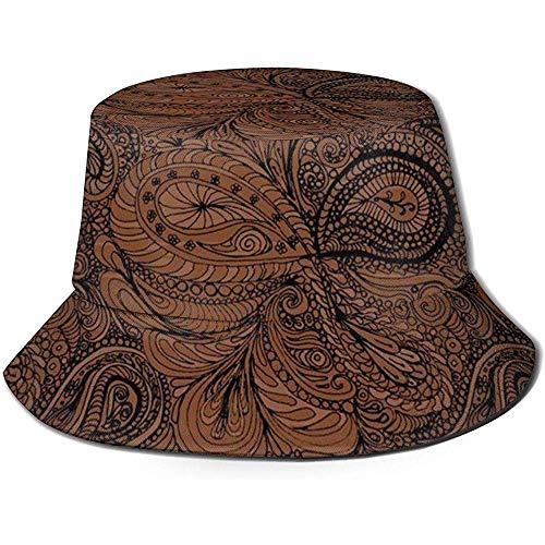 Paisley donkere chocolade Paisley emmer hoed zomer Uv zon visser pet Unisex voor reizen strand outdoor
