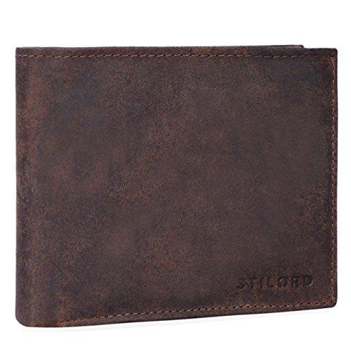 STILORD Portamonete Borsa Portafoglio 10 x EC Scomparti Uomo Vintage noble classico in vera pelle nero