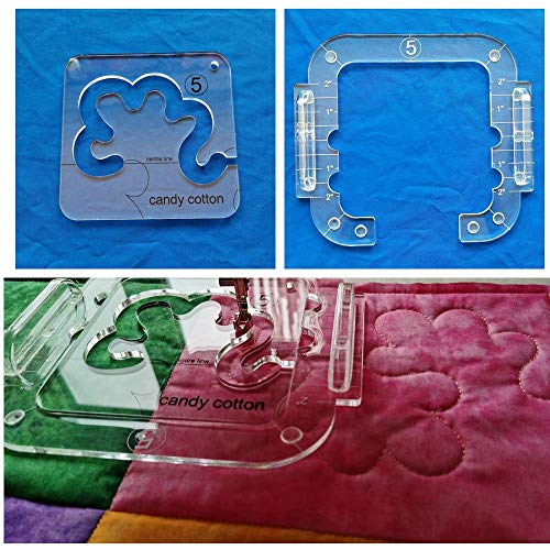 HONEYSEW Candy Cotton Template for Quilting Fits Inside Free Motion Quilting Grip 5