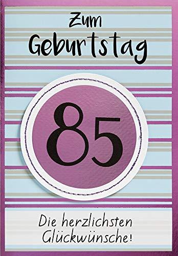 Geburtstagskarte zum 85. Geburtstag Lifestyle - Muster - 11,6 x 16,6 cm