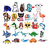 Global Mai Iron on Patch Set Parches Bordados, Usados Para Coser y Planchar,Tyrannosaurus Triceratops, Animal Lindos, Parches Decorativos Para Remendar Ropa.