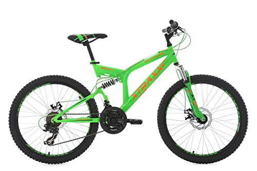 KS Cycling Mountainbike Fully MTB Xtraxx 24'' grün-orange RH 43 cm