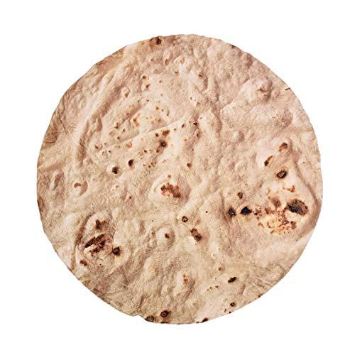 Xeroy Manta De Tortilla De Burritos para Adultos, Niños, Adolescentes, Manta De Comida Realista De 47 Pulgadas, Manta De Franela Suave para Tacos, Manta De Burrito Novedosa