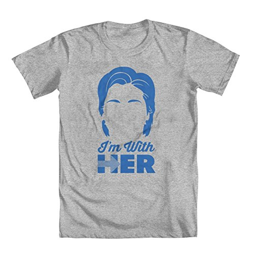 GEEK TEEZ Hillary Clinton I'm with Her Election Men's T-Shirt Heather Grey Large