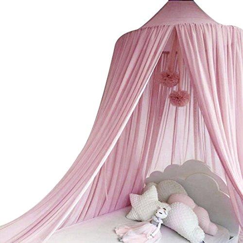 Xianheng Mosquitera Dosel para Cuna Cama de Bebés Niños Anti-mosquito de Moda Transpirable de Estilo Princesa Rosa