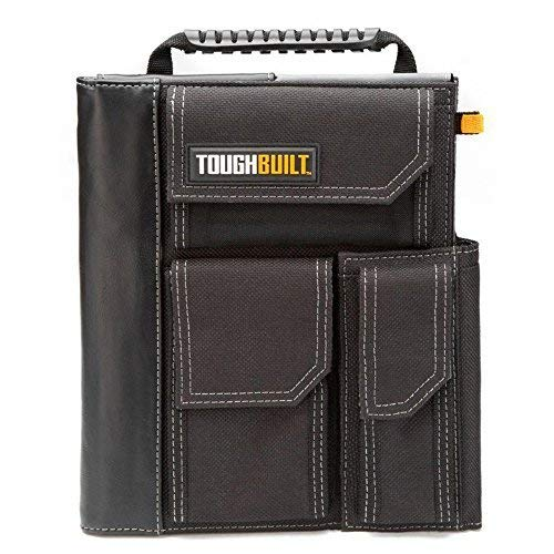 ToughBuilt - iPad Organizer + Grid Notebook - 3 External Quick-Access Accessory Pockets, Business Card Slots, Heavy-duty Construction with Pocket Reinforcement - (TB-56-IP-C)