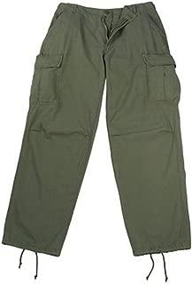 Olive Drab Rip-Stop Vintage Vietnam Fatigue Pants