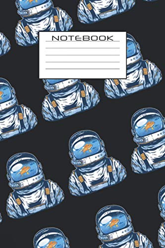 Notebook: Astronaut journal gift with a astronaut pattern layout and a lined cover panel| 6x9 inches | dotgrid dotted pages | 150 pages