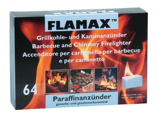 FLAMAX Anzünder für Kamin und Ofen, geruchlos, 64 Stück