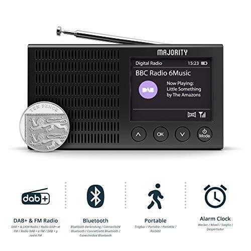 Majority Eddington Ligero Recargable portátil Dab + y Radio FM con Bluetooth
