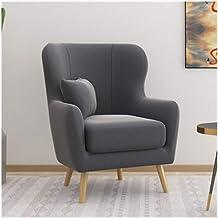LJBH Single Leisure Sofa Chair Modern Minimalist Balcony Living Room Study Room Bedroom Cafe Removable Fabric Sofa Single ...