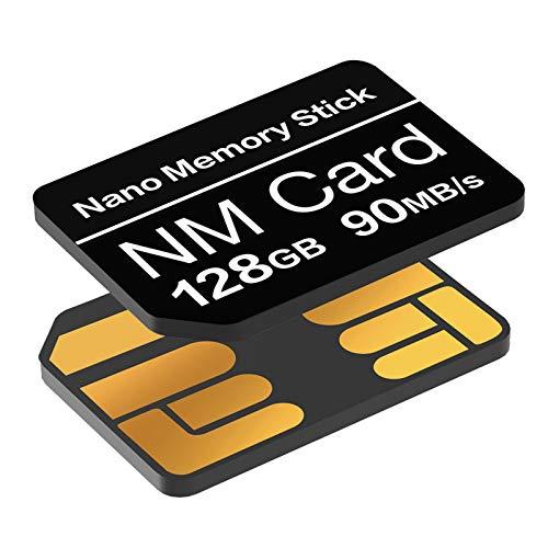 Scheda NM 128GB 90 MB/S Scheda di memoria Nano Solo scheda Nano Adatto per Huawei P30/P30pro/P40 Serie/Mate20 Serie/Mate30 Serie/Mate40/Mate40pro Nano Scheda da 128GB