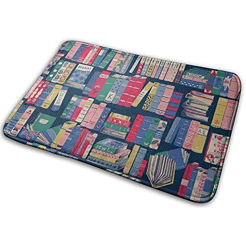 SESILY Spaß-Bücherschrank-Natur-Fußmatten-Eingangs-Matten-Boden-Matten-Teppich-Badezimmer-Matten