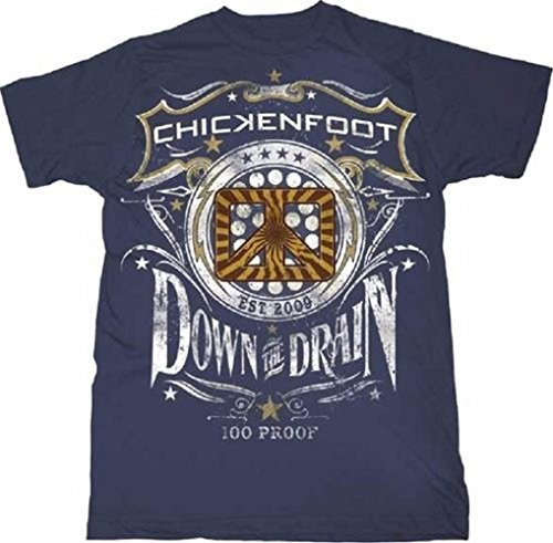 T-shirt pour homme officiel Chickenfoot - Down The Draw - Bleu - moyen