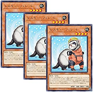 【 3枚セット 】遊戯王 日本語版 COTD-JP029 レスキューフェレット (レア)