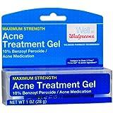 Walgreens Acne Treatment Gel , 10% Benzoyl Peroxide 1 Oz (Pack of 2)