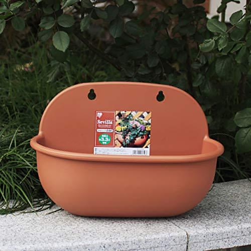 LINDU Plastic bloempot Hars hoed type langwerpige muur opknoping bloempot Groene appel vlezige pot opknoping muur wastafel BRON