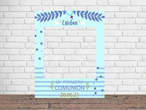 Photocall Mi Primera Comunión Niño 80 x100 cm | Regalos para Bautizos | Photocall Económico y Original | Ideas para Regalos | Regalos Personalizados de Comunión