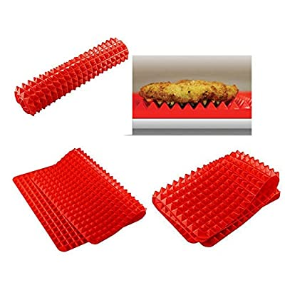 BBQ Grill Mat for Grilling and Baking, Grill & Bake Mats, Non Stick BBQ and Baking Mat Reusable PFOA Free, Beyonds Grilling Mesh Heat Resistant Up to 500F (260 ?)