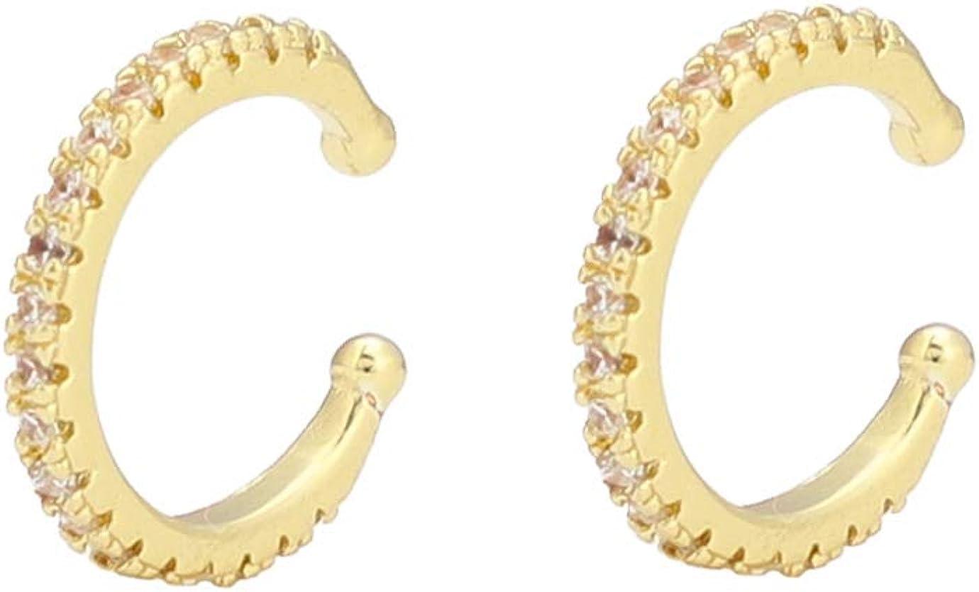 18K Gold Ear Cuff Earrings for Women - Set of 2 Cuff Earrings - Ear Cuffs - Small Hoop Earrings - No Piercing Hoops - Tiny Hoops