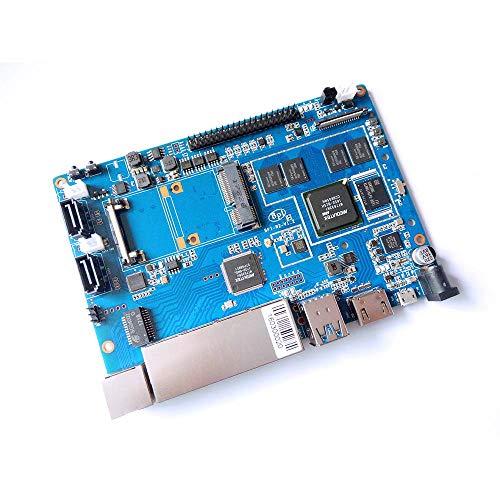 youyeetoo Banana PI BPI R2 Smart Home-Kabel 2G LPDDR3 und 8GBEMMC Open-Source-kompatibel mit Raspberry Pi und MediaTek MT7623N, Quad-Core ARM Cortex-A7 1,3 GHz