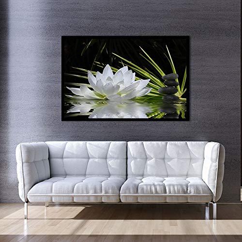 N / A Quadro modulare Art Flower Lotus Poster Wall Art Modular Pittura per Cucina Quadro da Parete Soggiorno Decorazione Senza Cornice 30X42CM