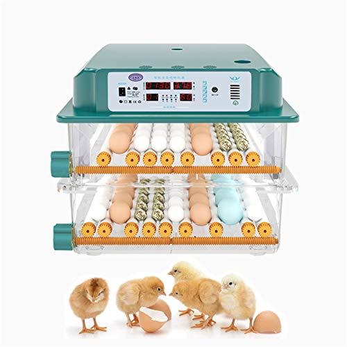 JHKGY Nacedora Digital Completamente Automática,con Volteo Automático De Huevos Y Control De Temperatura Y Humedad,Candelero De Huevos Incorporado,para Pollos Patos Ganso Otros,98 Egg