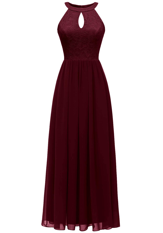 Dressystar Women's Halter Long Formal Maxi Party Dress Evening Prom Dress
