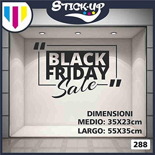 Vetrofanie Black Friday Sale - Vetrofania Bar, Ristorante, abbigliamento - Sign Wall Sticker Adesivo Murale Badge decorativa Adesivo Art Stickers Decal (XXL 90x58 cm)