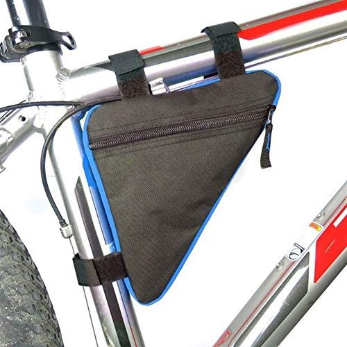 Bolsa de sillín de ciclismo Tubo for bicicleta de ciclo del marco del tubo delantero del bolso de teléfono impermeable a bolsos de la bicicleta del soporte del bastidor Accesorios Triángulo de la bols