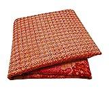 Peegli Vintage Indian Sari Cream Ethnic Wear Chanderi Silk Art Décor DIY Fabric Embroidered Women Sarong Wrap Traditional Saree