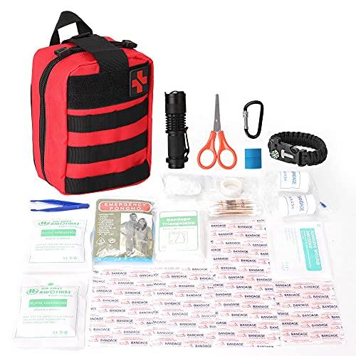 conpoir Kit di Pronto Soccorso per la Sopravvivenza in Campeggio Kit di Pronto Soccorso per Alpinismo Campeggio all'aperto Kit di Pronto Soccorso per Esterni Zaino Comodo