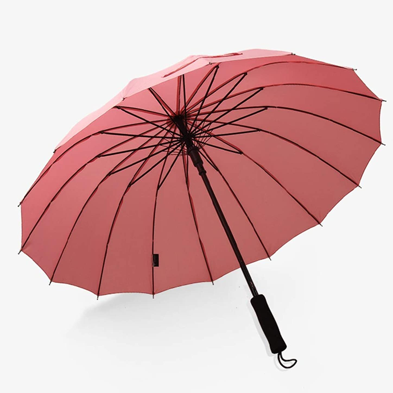 コンドームあいまいボウリングDCAH 傘、高密度インパクトクロス16骨防風強化大型ダブルロングストレートハンドル雨と雨の傘 傘立て (色 : D)