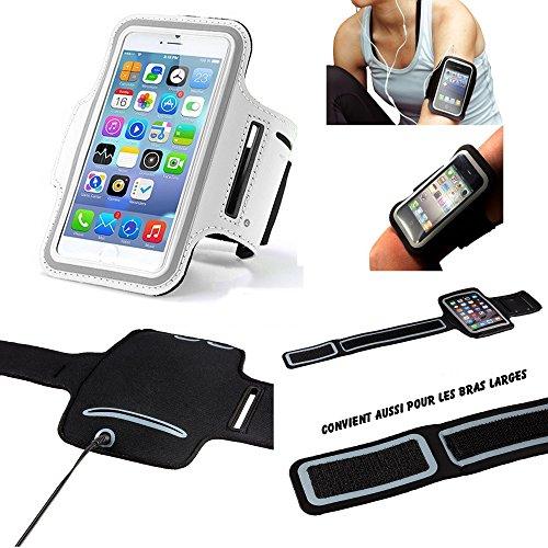Xiaomi Mi Mix 2 Brazalete Deportivo de Neopreno para teléfono móvil (teléfono Inteligente) Footing Hiking Running Scratch Ajustable - Actividad Deportiva - Blanco