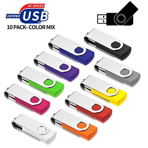 USB Sticks 8GB 10 Stück, AreTop USB 2.0 Speicherstick 8GB USB Sticks 10 Stück High Speed Datenspeicher Memory Sticks (Mehrfarbig)
