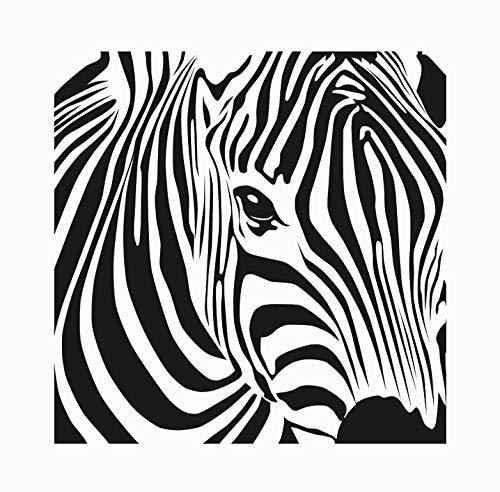 Wiederverwendbare Schablone mit Zebramuster, A5, A4, A3 & größere Größen, Wanddekoration für Kinderzimmer, Kinderzimmer, 140 (PVC, wiederverwendbare Schablone, A3-Größe – 297 x 420 mm)