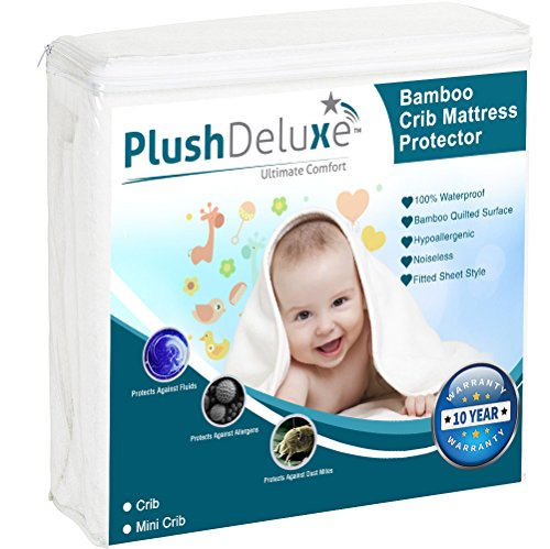 PlushDeluxe Mini Crib Mattress Protector Product Image