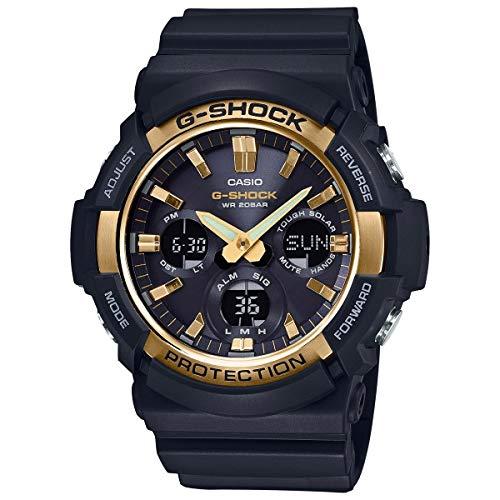 Casio G-Shock GAS100G-1A Tough Solar Resin Stainless Steel Men s Watch (Black)