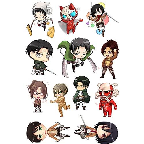 MBGM Pegatinas de anime Ataque a Titán Mikasa·Ackerman Pegatinas de monopatín Pegatinas de ordenador portátil Vinilo Cartoons Personalizado PVC Impermeable Anime Pegatina