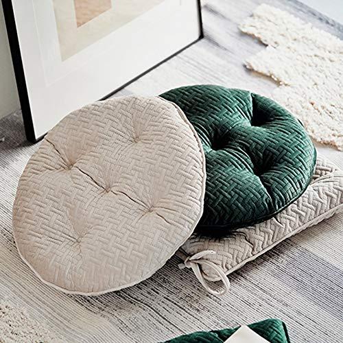 No brand Quilting Cuscino del Sedile Morbido Velluto Rotonda Texture Piazza Floor Cuscino della Sedia del Divano Cuscini for Il Ministero degli Hotel