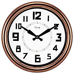 Lacrosse Technology Equity 20821 Copper 12-inch Analog Wall Clock Glam Round Metal Plastic Finish