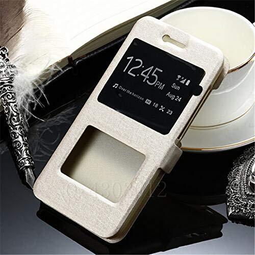 RZL Teléfono móvil Fundas para redmi Nota 5 7 6 5 K20 Pro Plus 4X 4 7A, Lujo Frente Inteligente Ventana de visualización del tirón del Cuero del Caso para Xiaomi Mi F1 SE 9 8 A2 Lite MAX 2 3