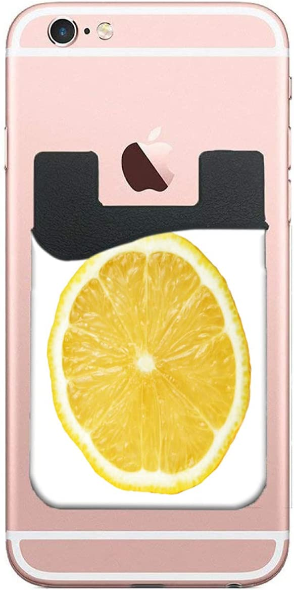 ZXZNC Card Holder for Back of Slice Lemon Limited time trial price Yellow New life On Fresh Phone