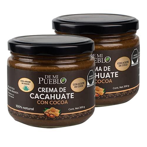 Crema de Cacahuate Natural con Cocoa (2 Piezas) (Sin Azúcar) (Sabor Chocolate)