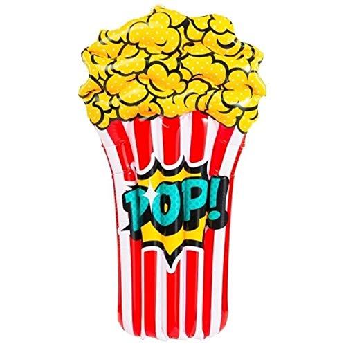 KKAAMYND Air materassi, 110 Centimetri Popcorn Bambini Piscina Gonfiabile Galleggiante Lie-on gonfiabili Floating Island Materasso di Nuoto Mare for Giocattoli da Spiaggia (Color : Blue)