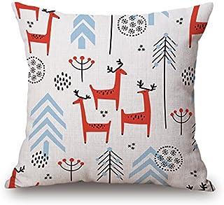 JES&MEDIS Pillow Case Linen Cotton Cushion Throw Pillow Cover Square 18 x 18
