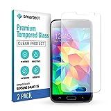 smartect Cristal Templado para Móvil Samsung Galaxy S5 / S5 NEO [2 Unidades] - Protector de pantalla 9H - Diseño ultrafino - Instalación sin burbujas - Anti-huella
