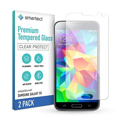 smartect Pellicola Protettiva per Samsung Galaxy S5 / S5 NEO [2 Pezzi] - 9H Vetro Temperato – Design Ultra Sottile – Applicazione Anti-Bolle – Anti-Impronte